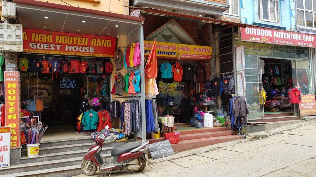 Sport wear shops in Sapa