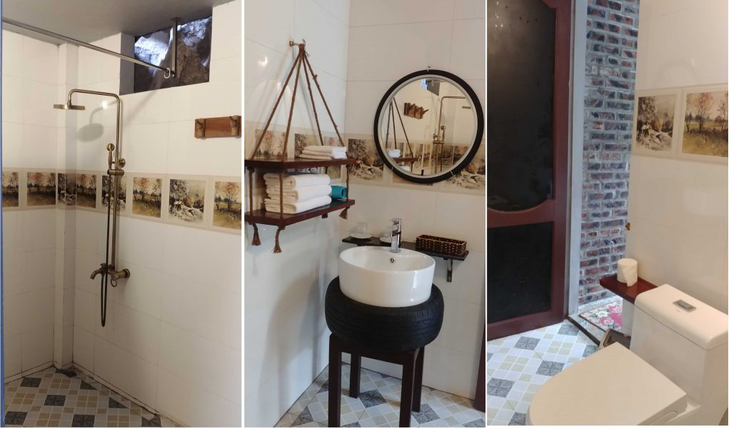Our ensuite toilet and Anh Tuan Tam Coc Old Space Bungalow