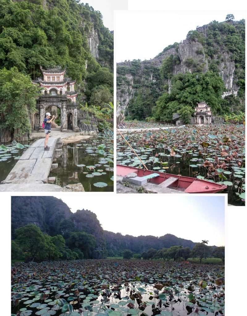 Lower Pagoda and lily pond of Bich Dong