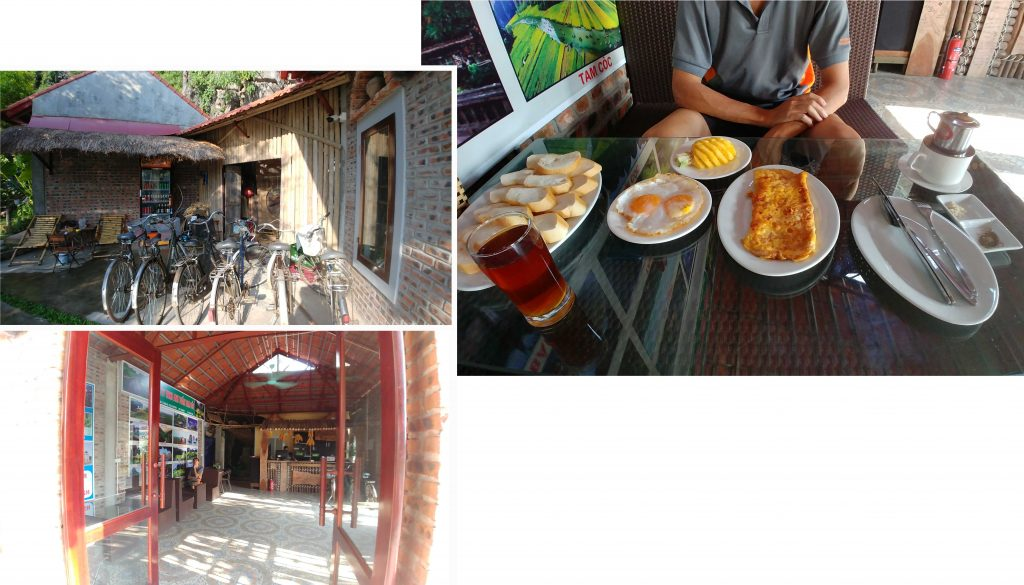 Simple breakfast at Anh Tuan Tam Coc Old Space Bungalow