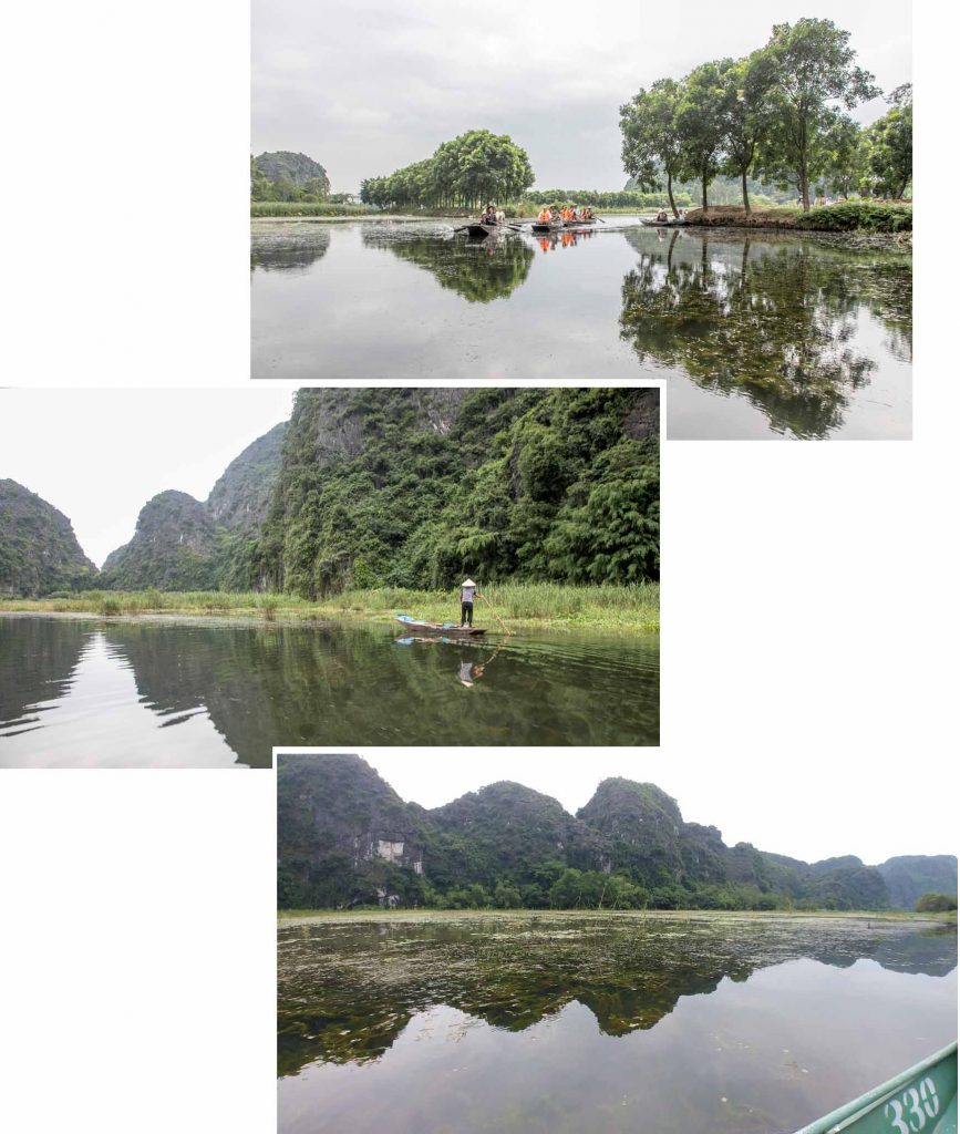 Scenery of Tam Coc Boat ride