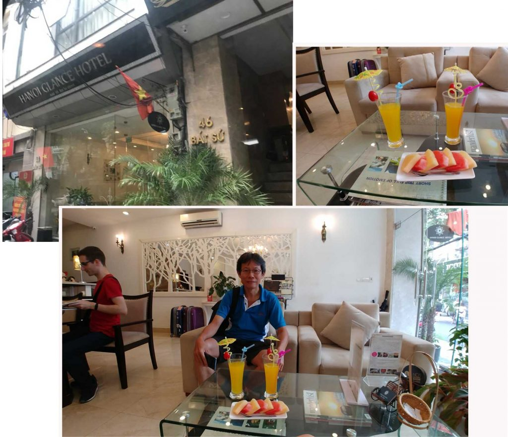 Welcome fruits and drinks at Hanoi Glance Hotel