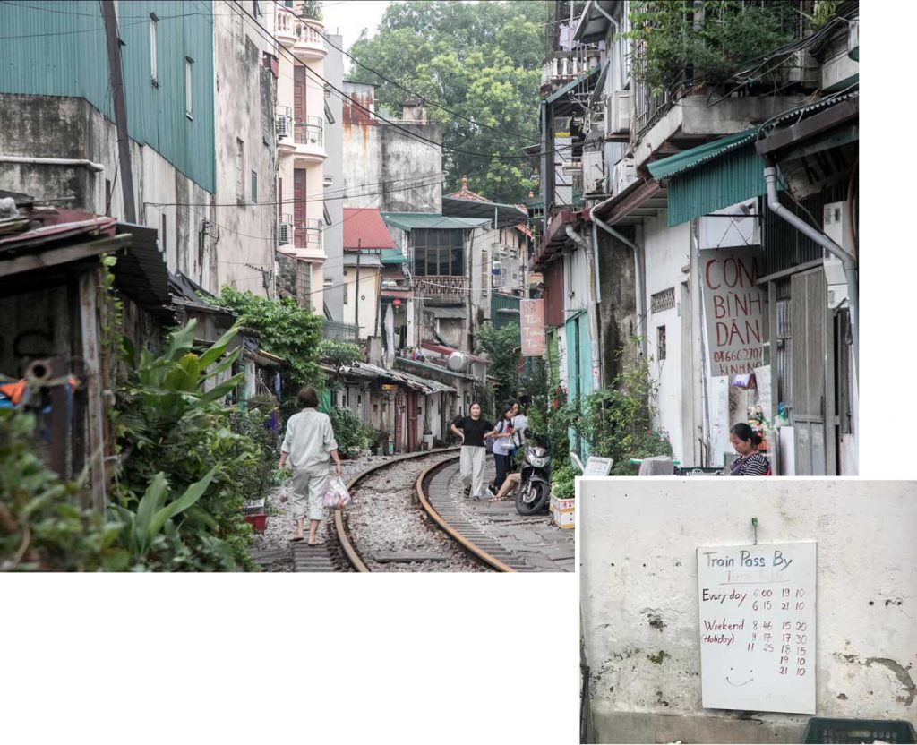 Hanoi street train and schedule