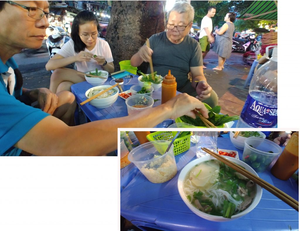 Street food - chicken Pho