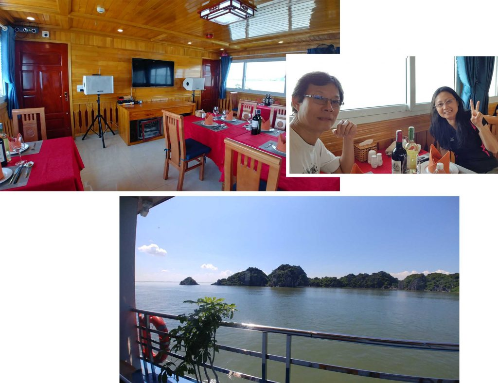Dining room at La Paci Cruise Boat