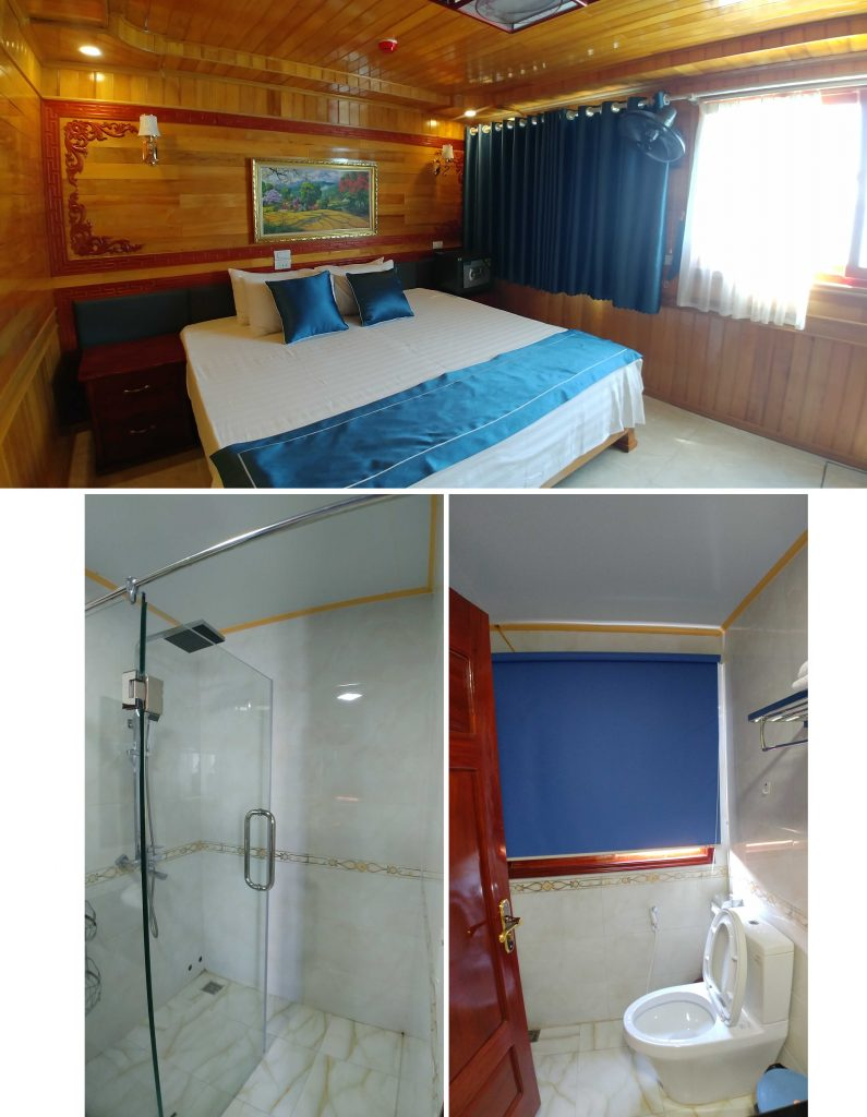 Our double room with ensuite toilet