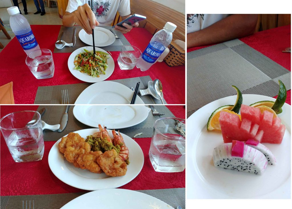 Our first lunch on La Paci Cruise
