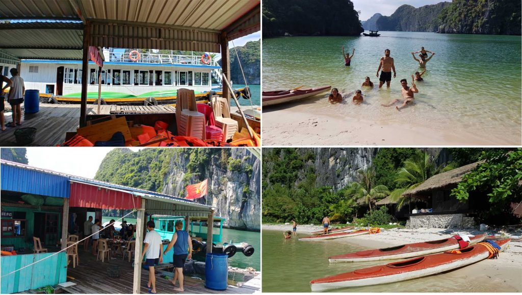 Lunching, kayaking and swimming