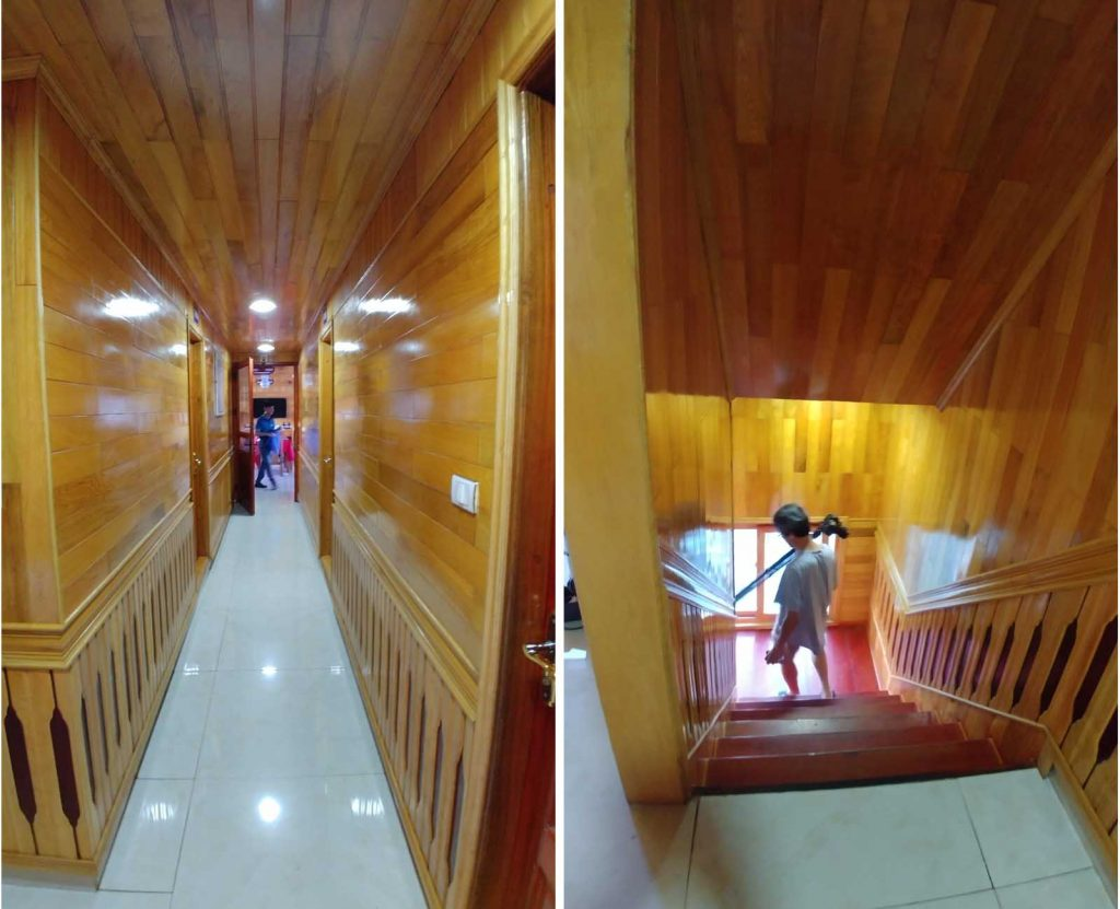 Corridor and stairs access in La Paci Cruise