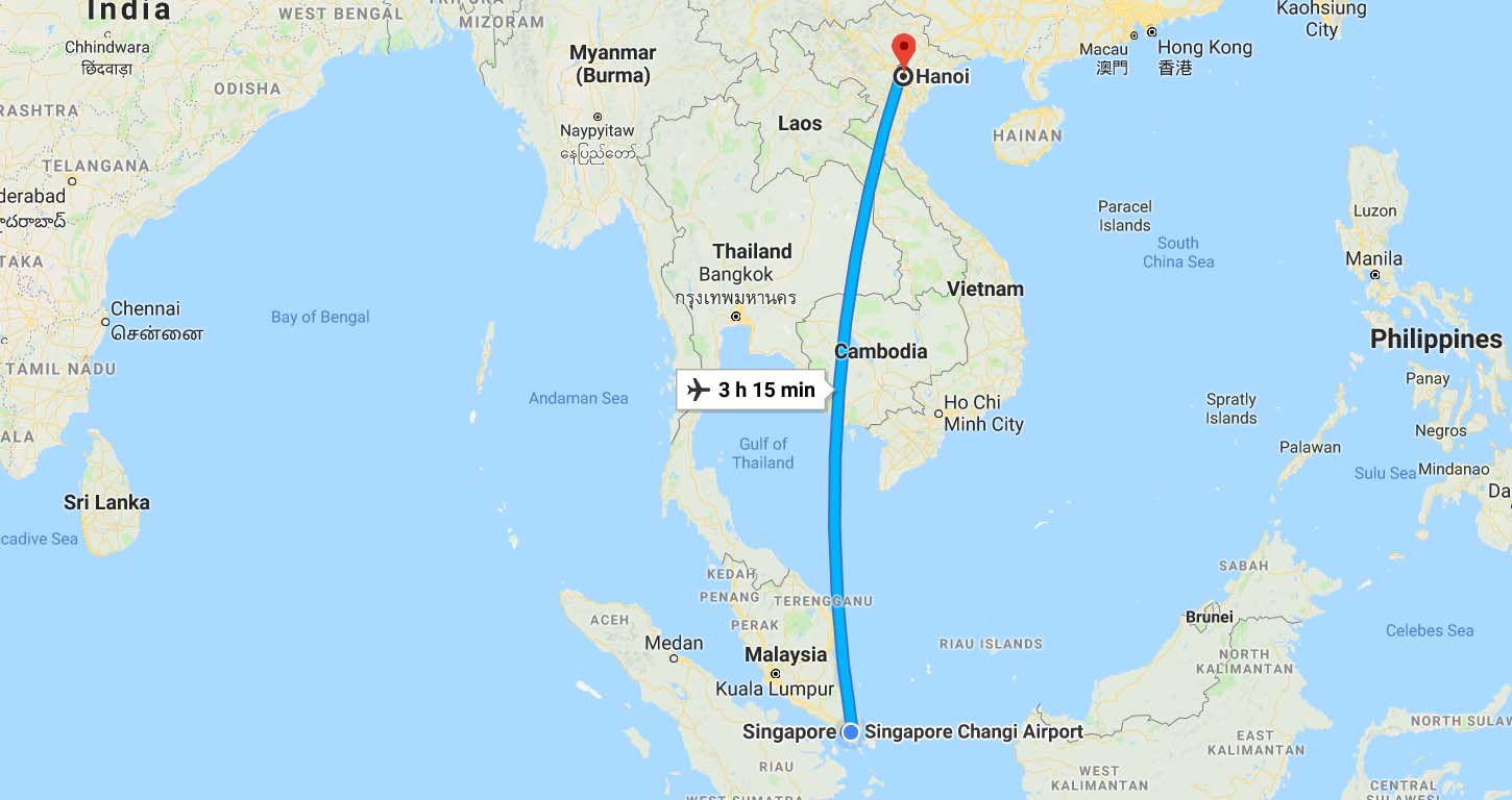 Singapore to Hanoi
