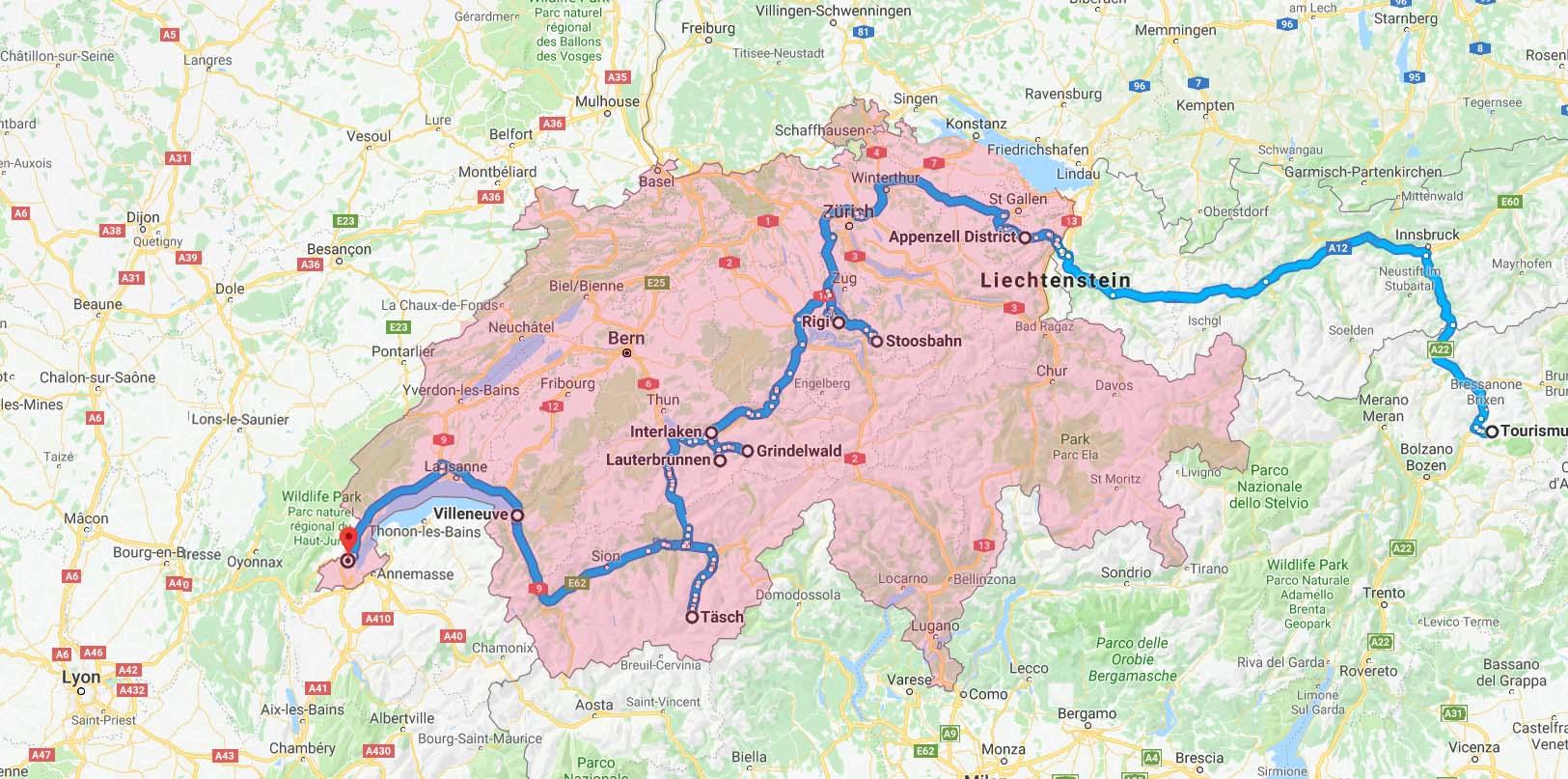 10 days road trip in Switzerland