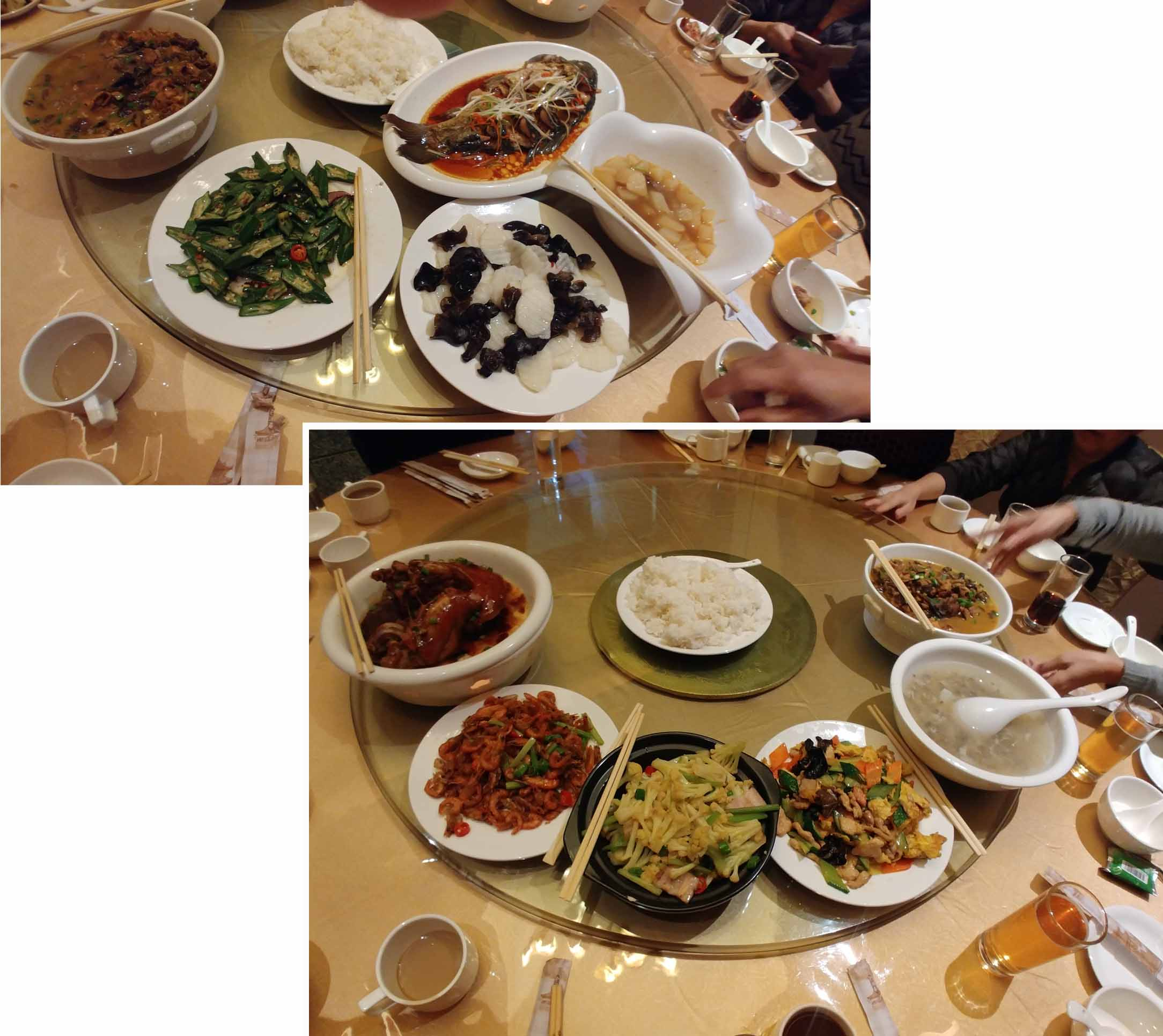 Dinner at Grand Legend Hotel MuDanJiang