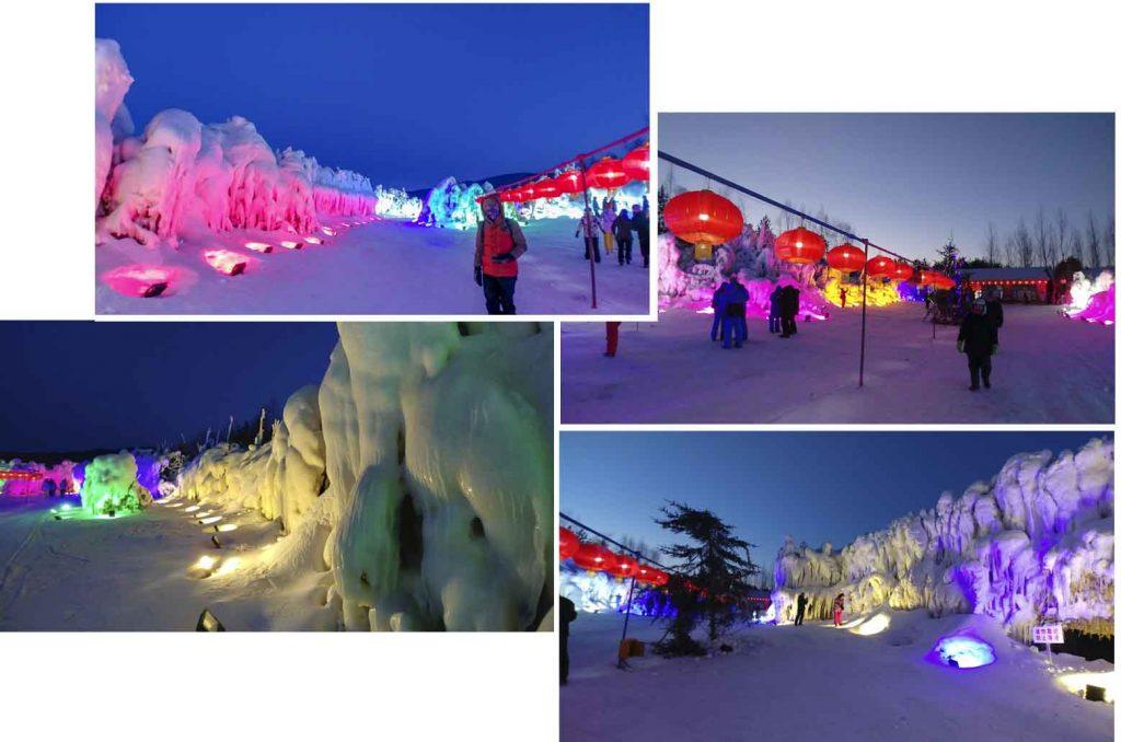 Night scene at 冰淩谷