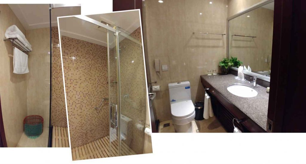 Ensuite bathroom of our twin room at Yabuli International Hotel