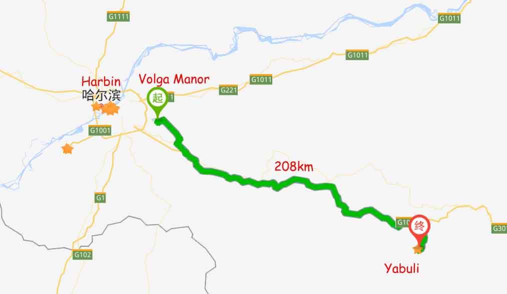 Volga Manor to Yabuli