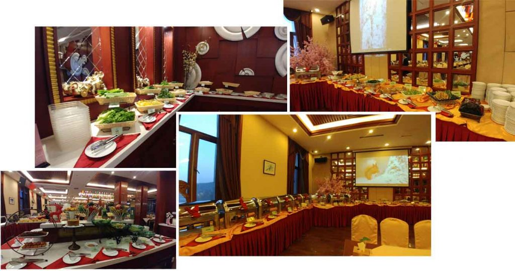Buffet breakfast at Yabuli International Hotel