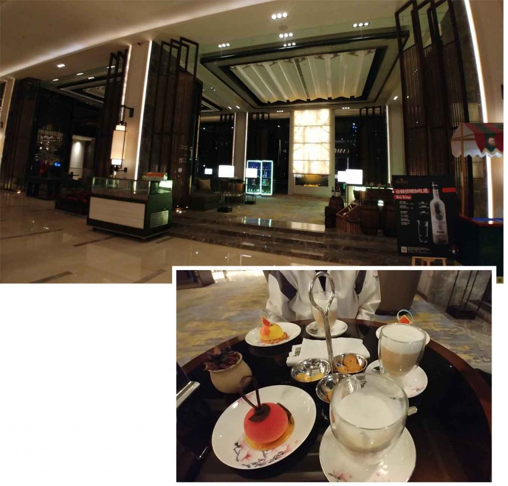 Coffee and cakes at Shangrila