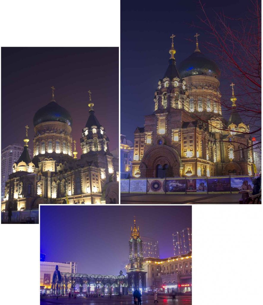 Saint Sophia Cathedral at night
