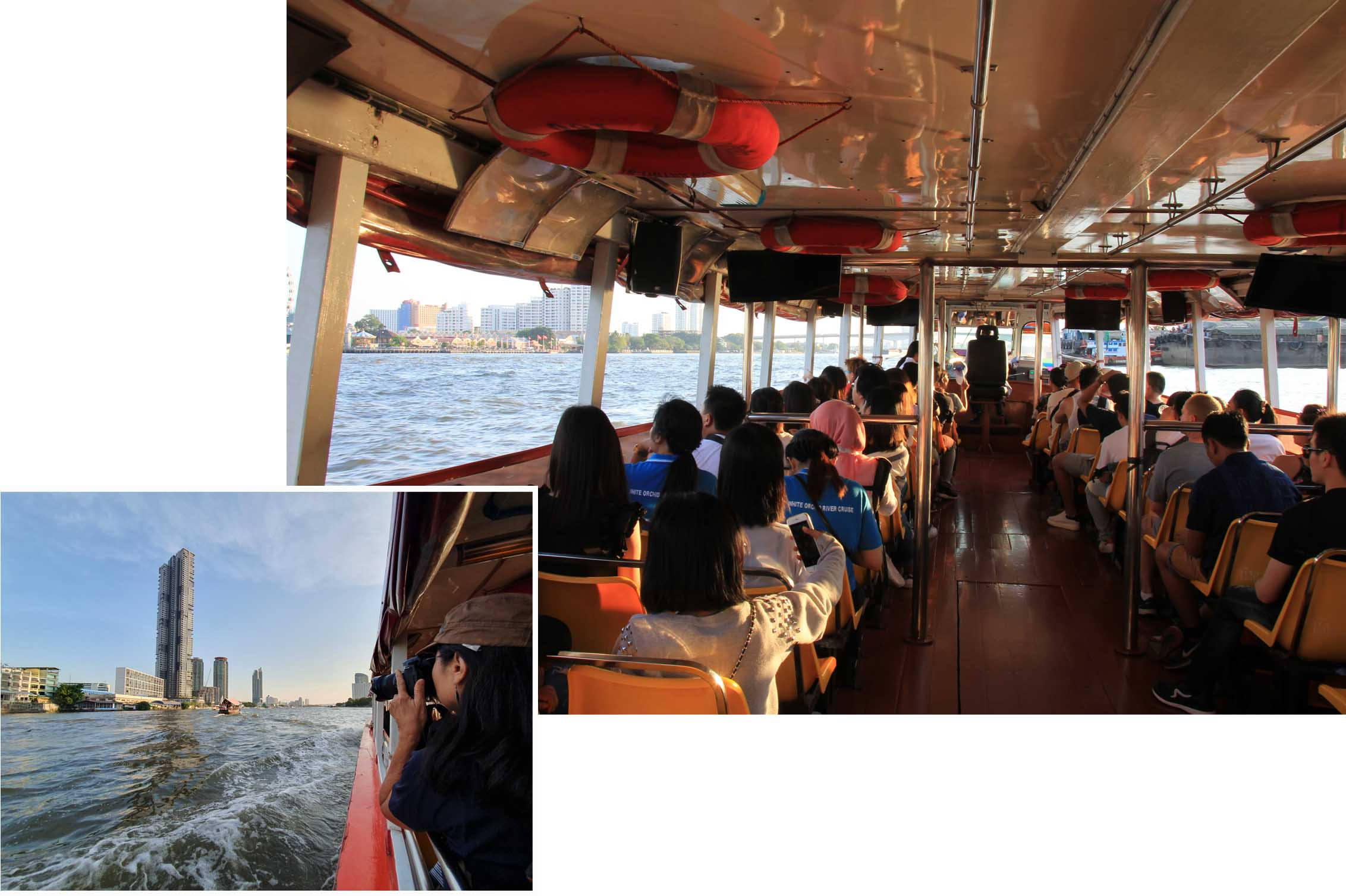 Free shuttle boat ride on the Chao Phraya River
