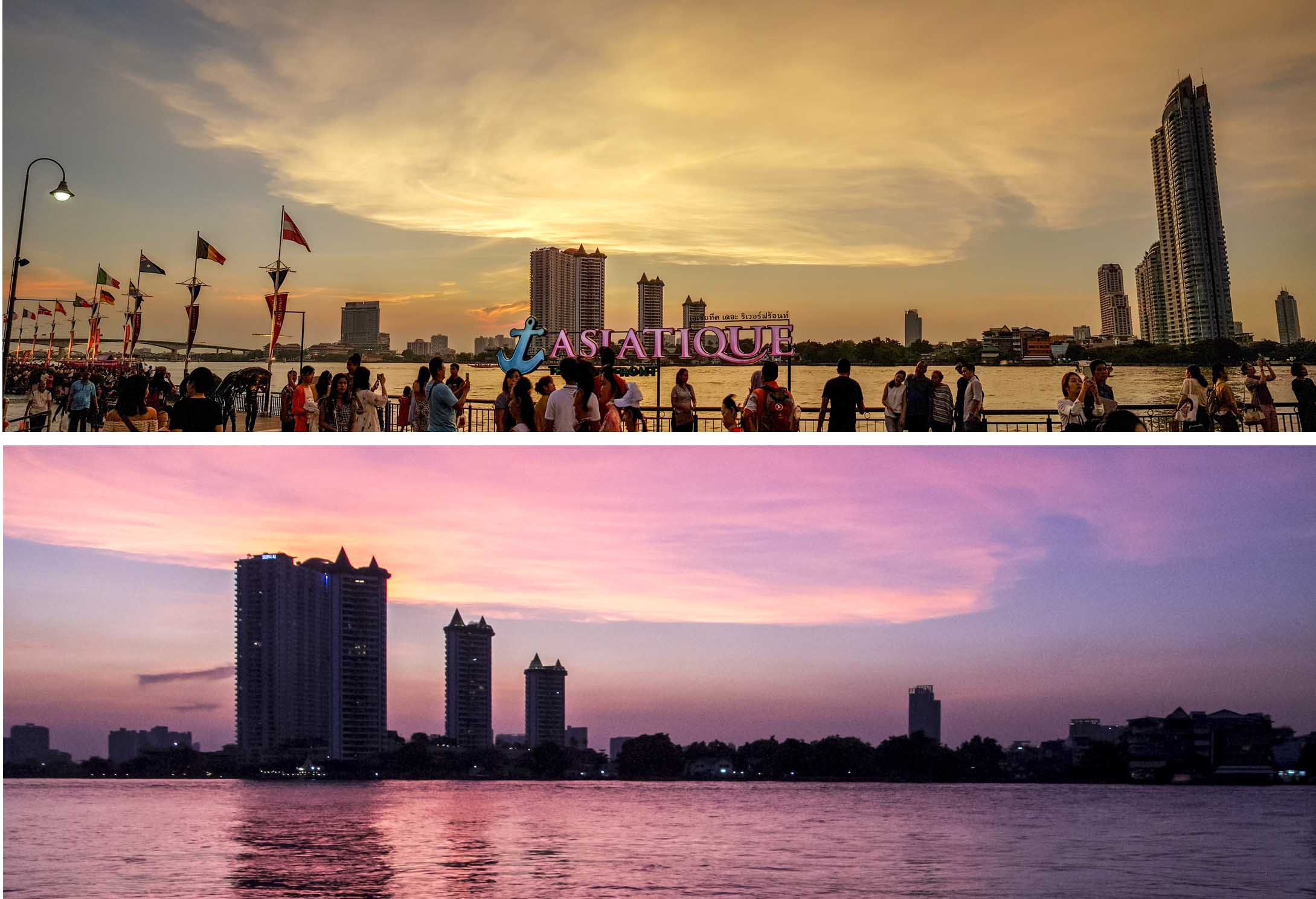 Sunset as seen from Asiatique Pier