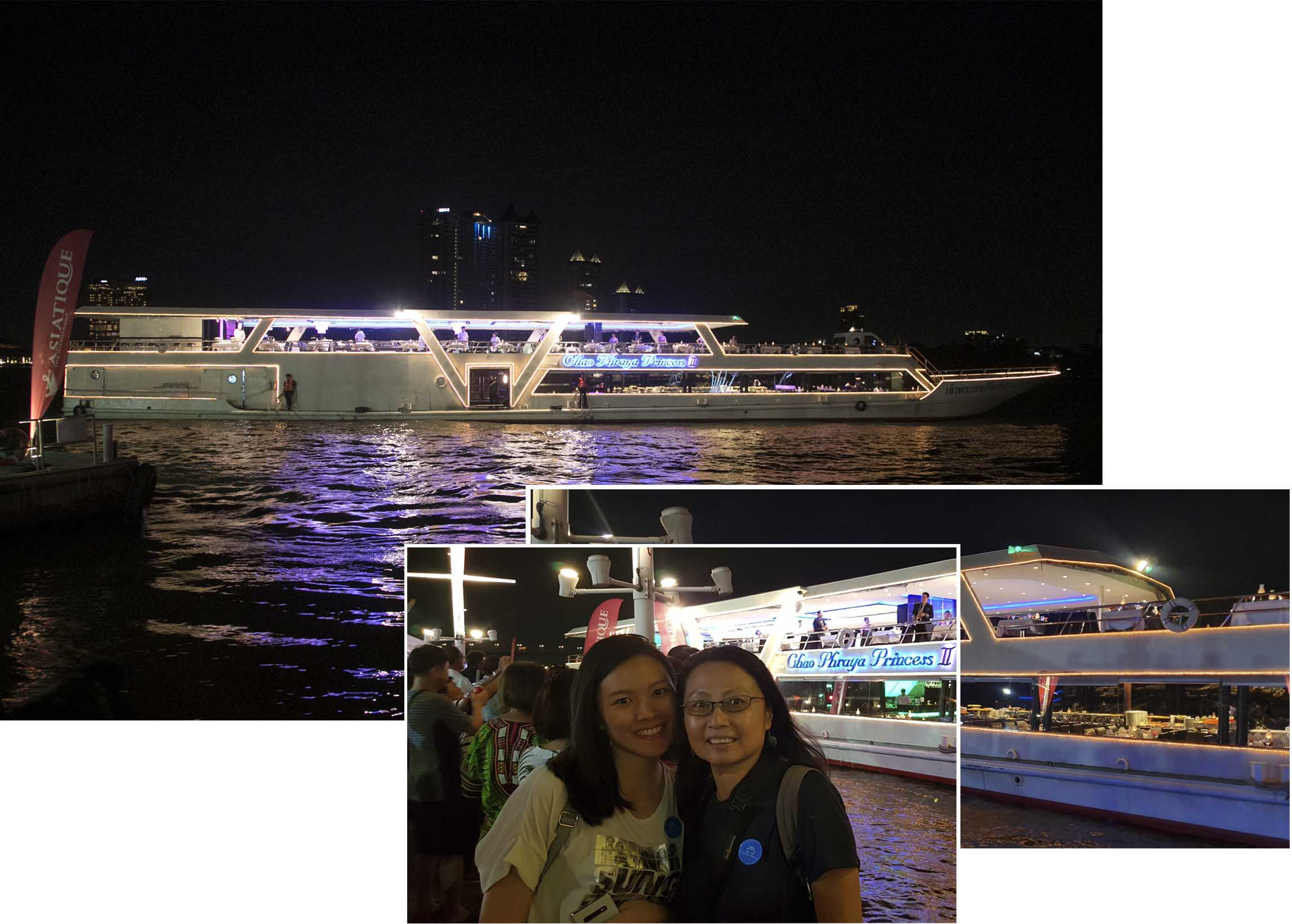 Getting read to board Chao Phraya Princess Cruise II
