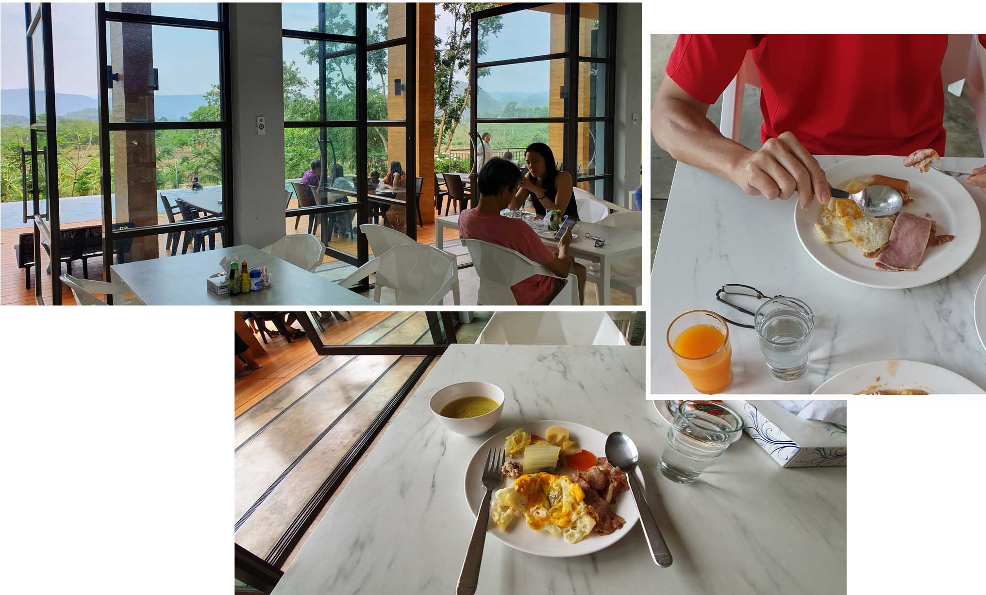 Breakfast at Mont Blanc at KhaoYai