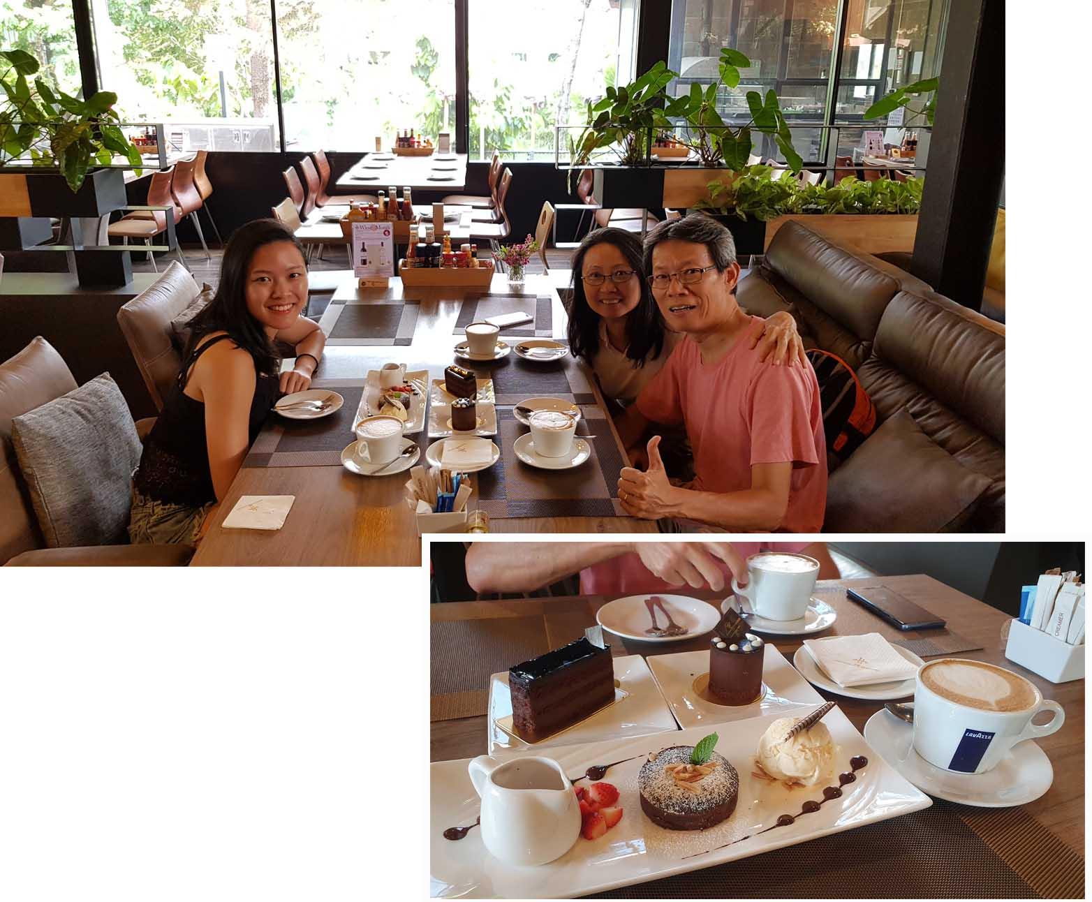 Coffee break at Khaoyai Chocolate Factory