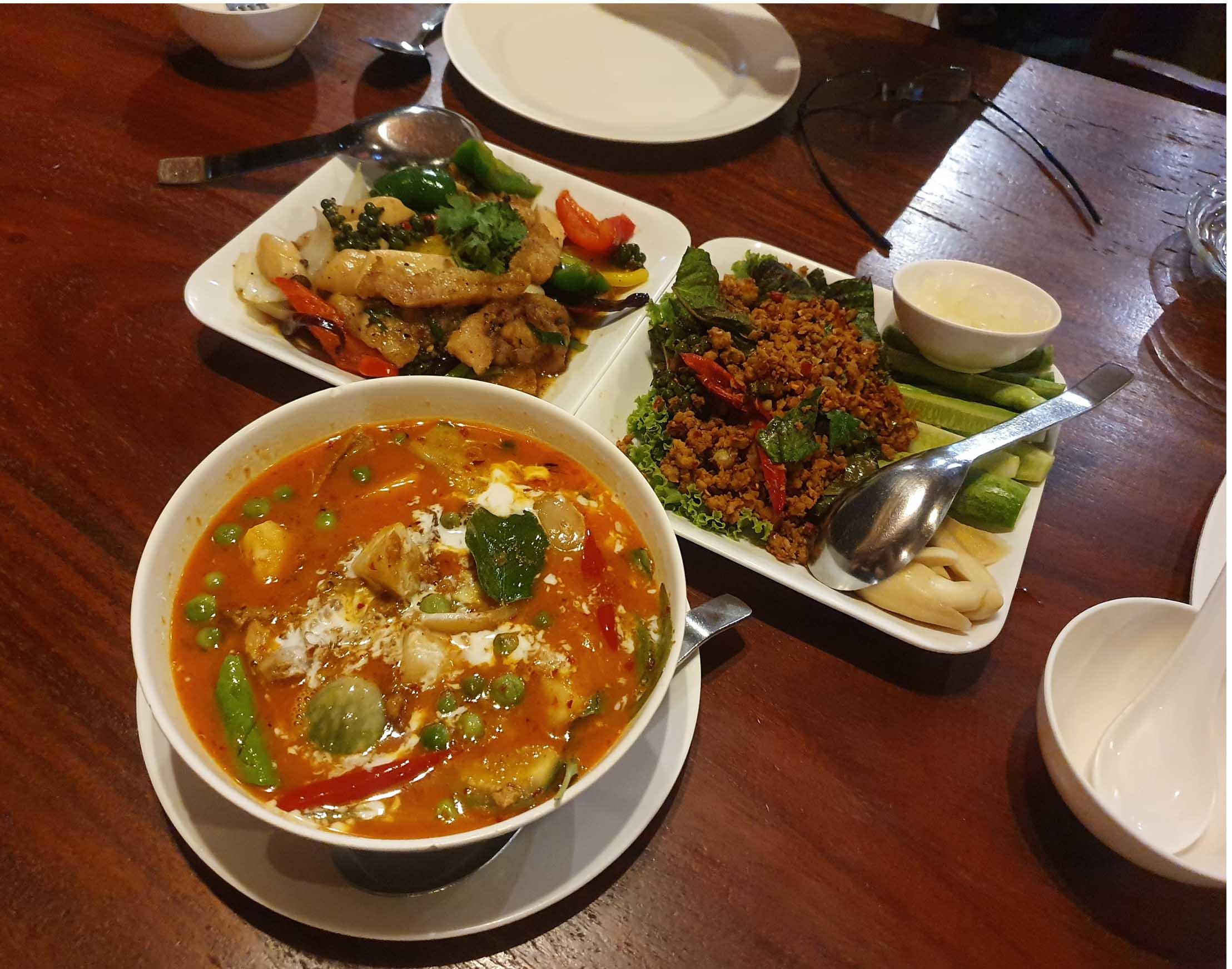 Our dinner at Kau Kampan restaurant