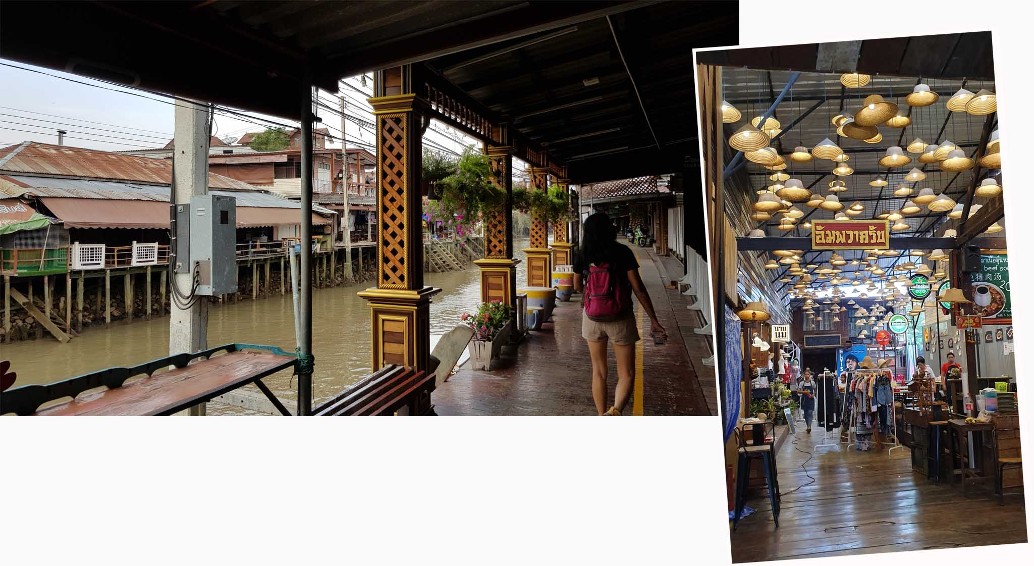 Shops on Amphawa River