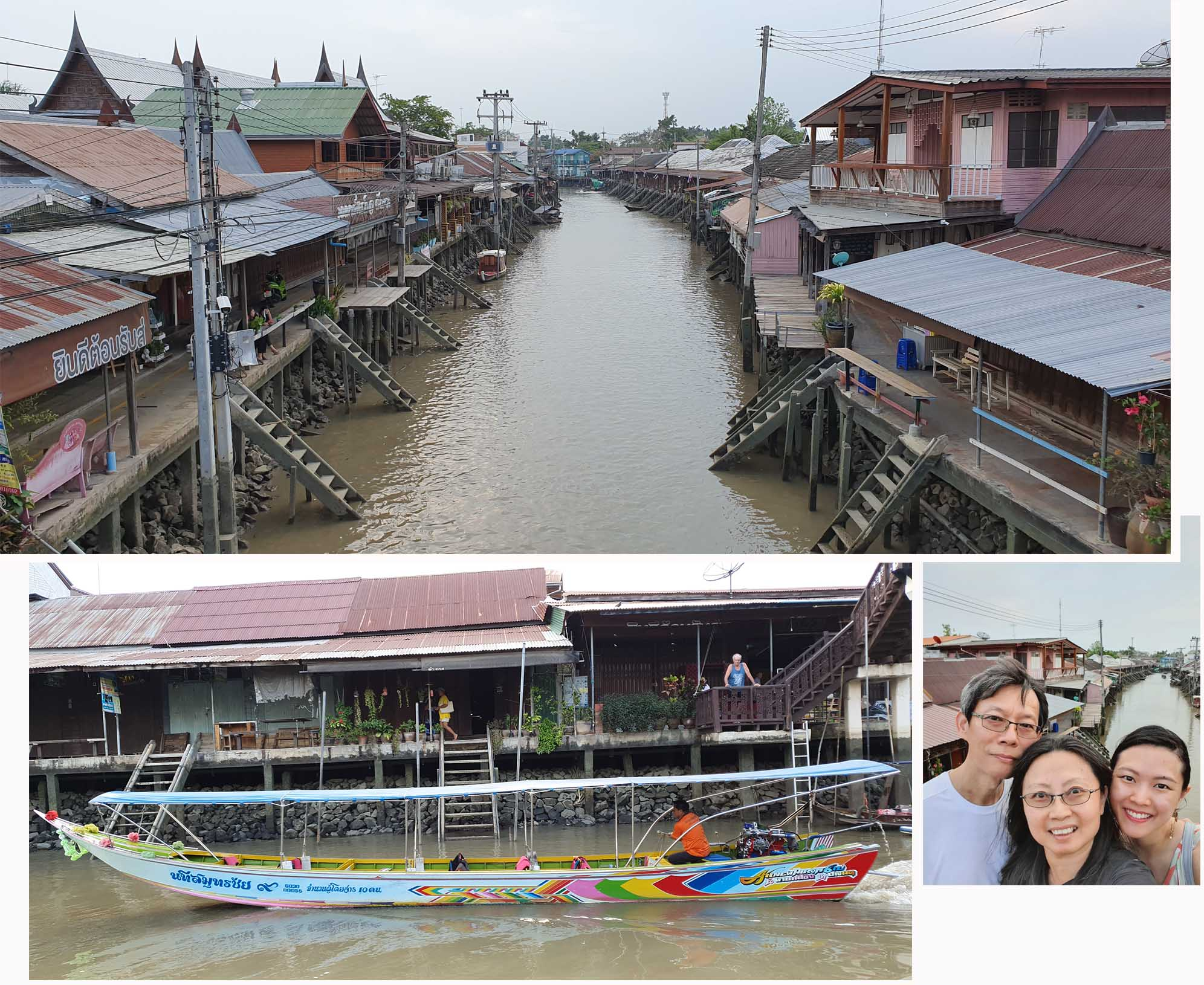 Quiet Amphawa Floating Market on Weekday