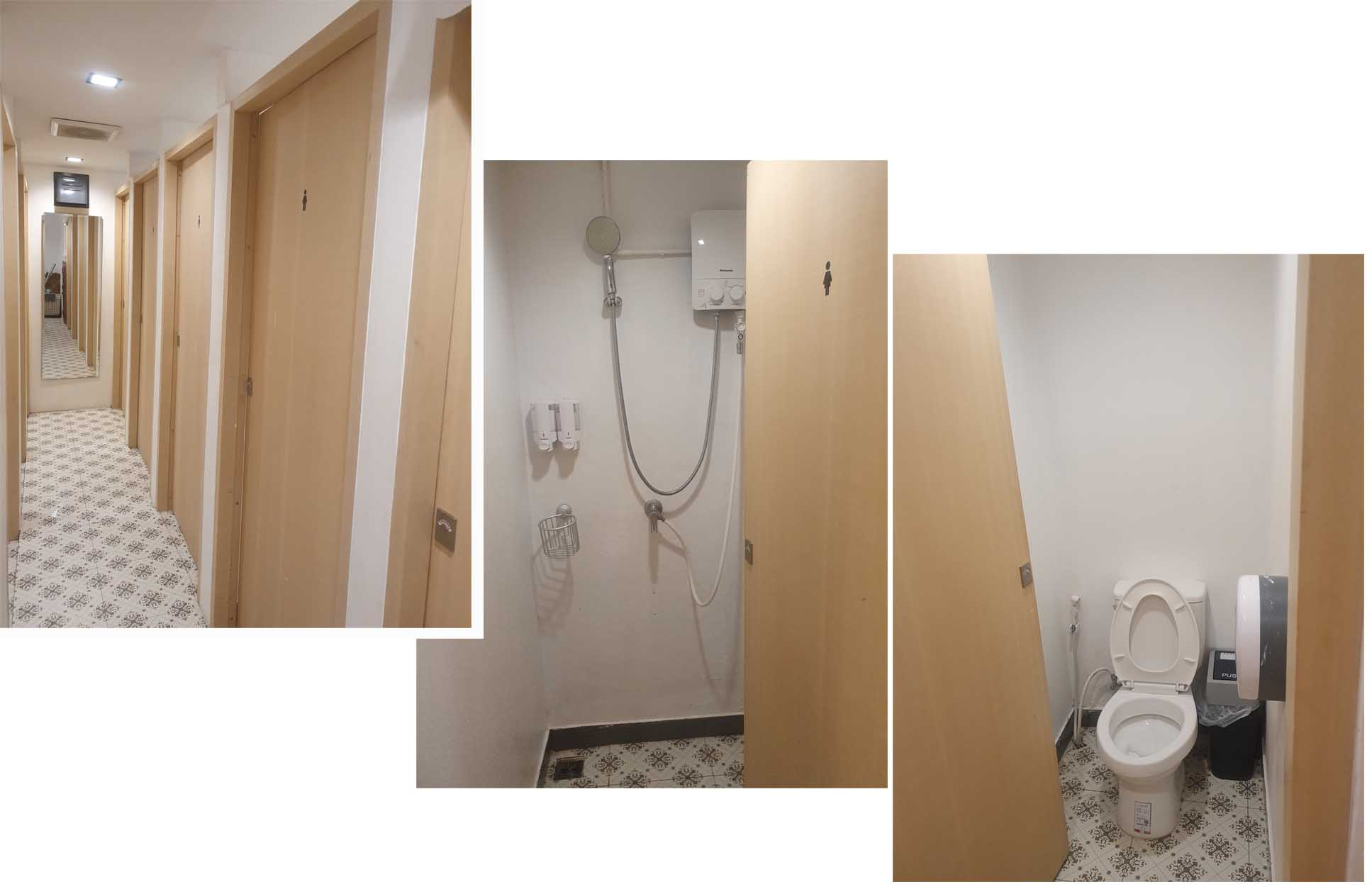 Shared shower rooms and toilets