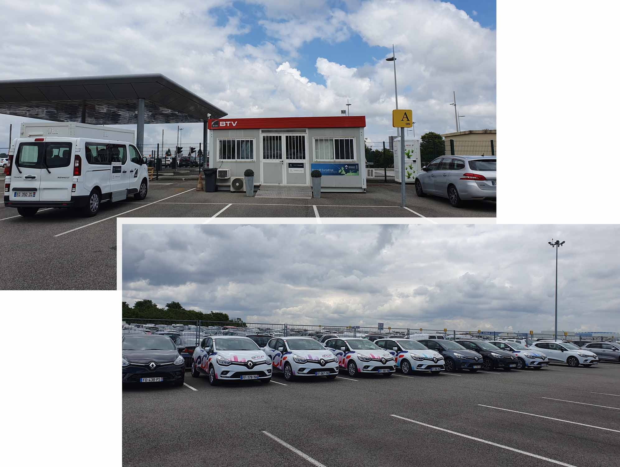 Citroen pick-up outlet at Toulouse International Airport