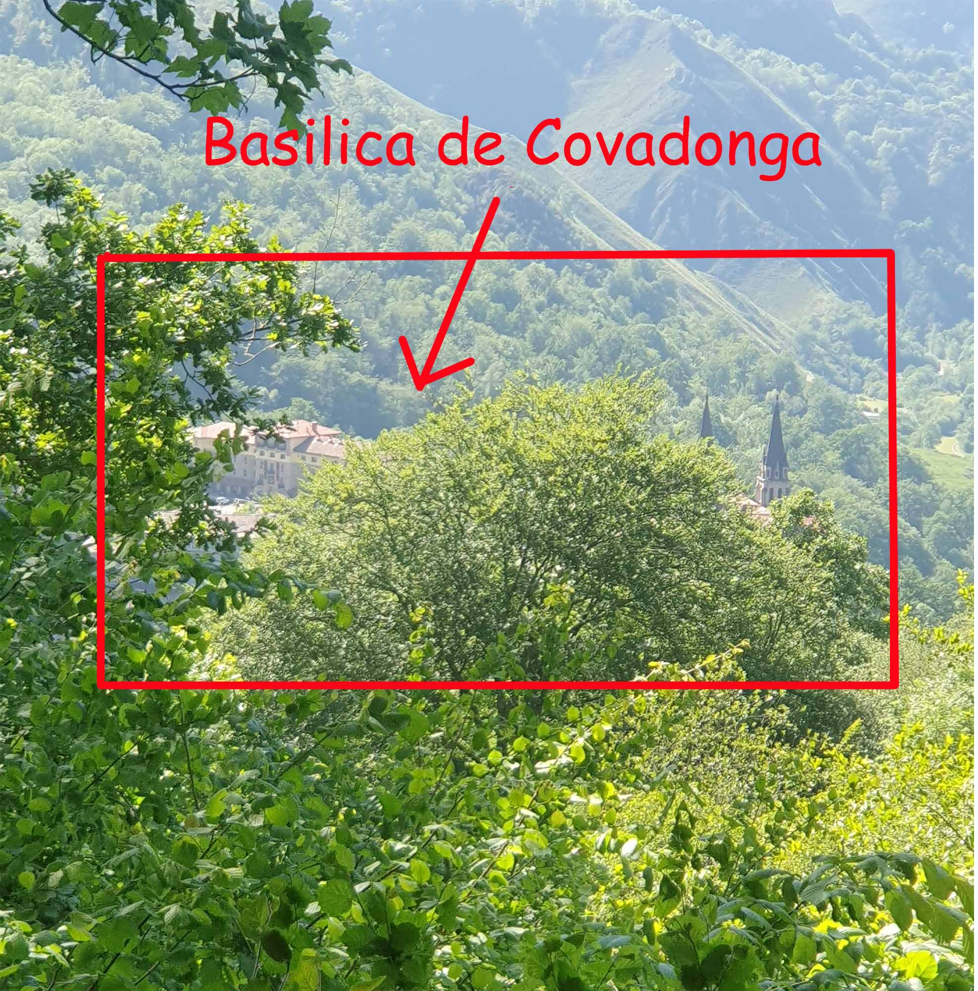 The view of basilica de Covadonga was hidden