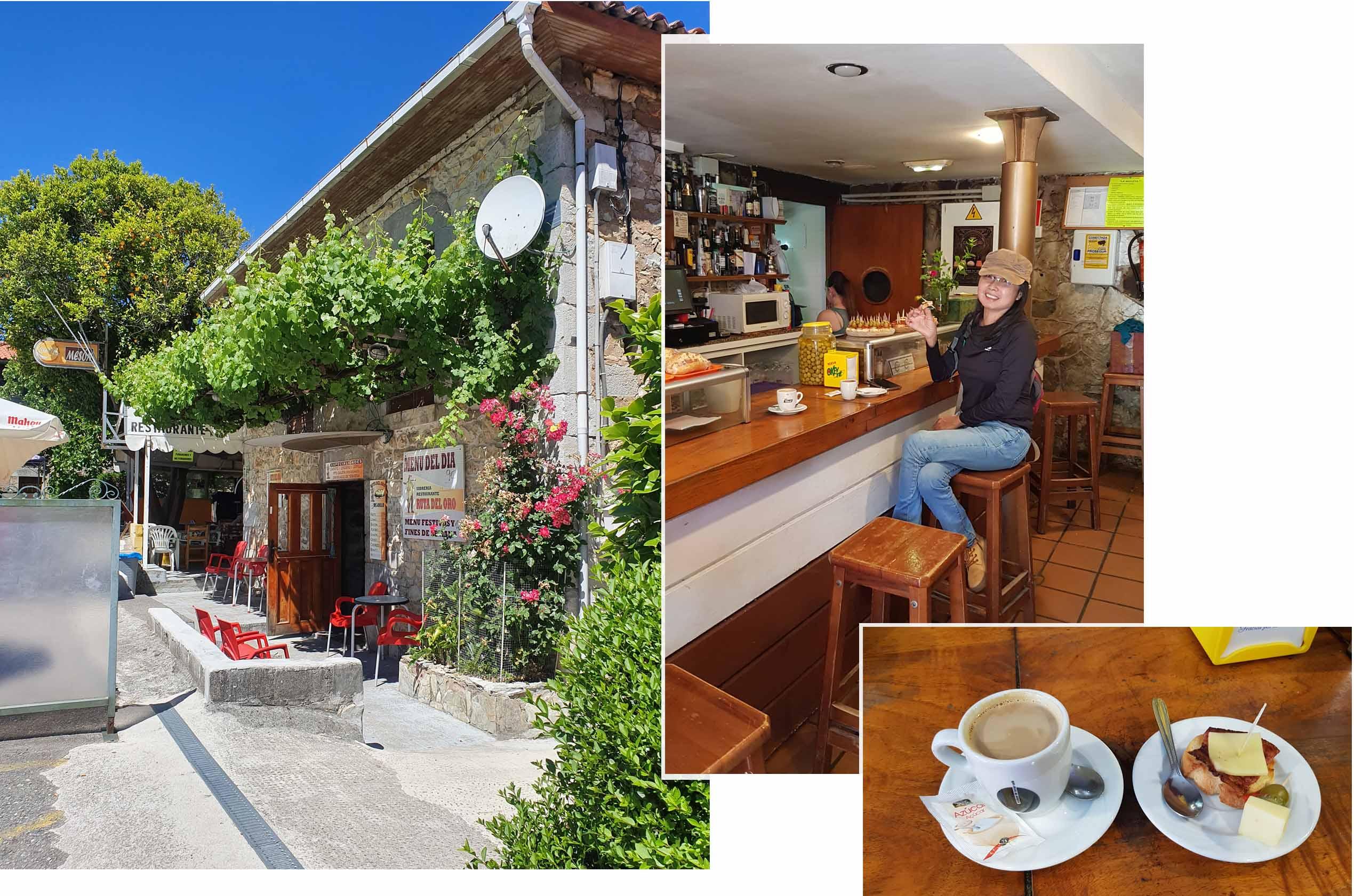 Tapas Break at a local cafe (co-ordinates: 43.353545, -6.183180)