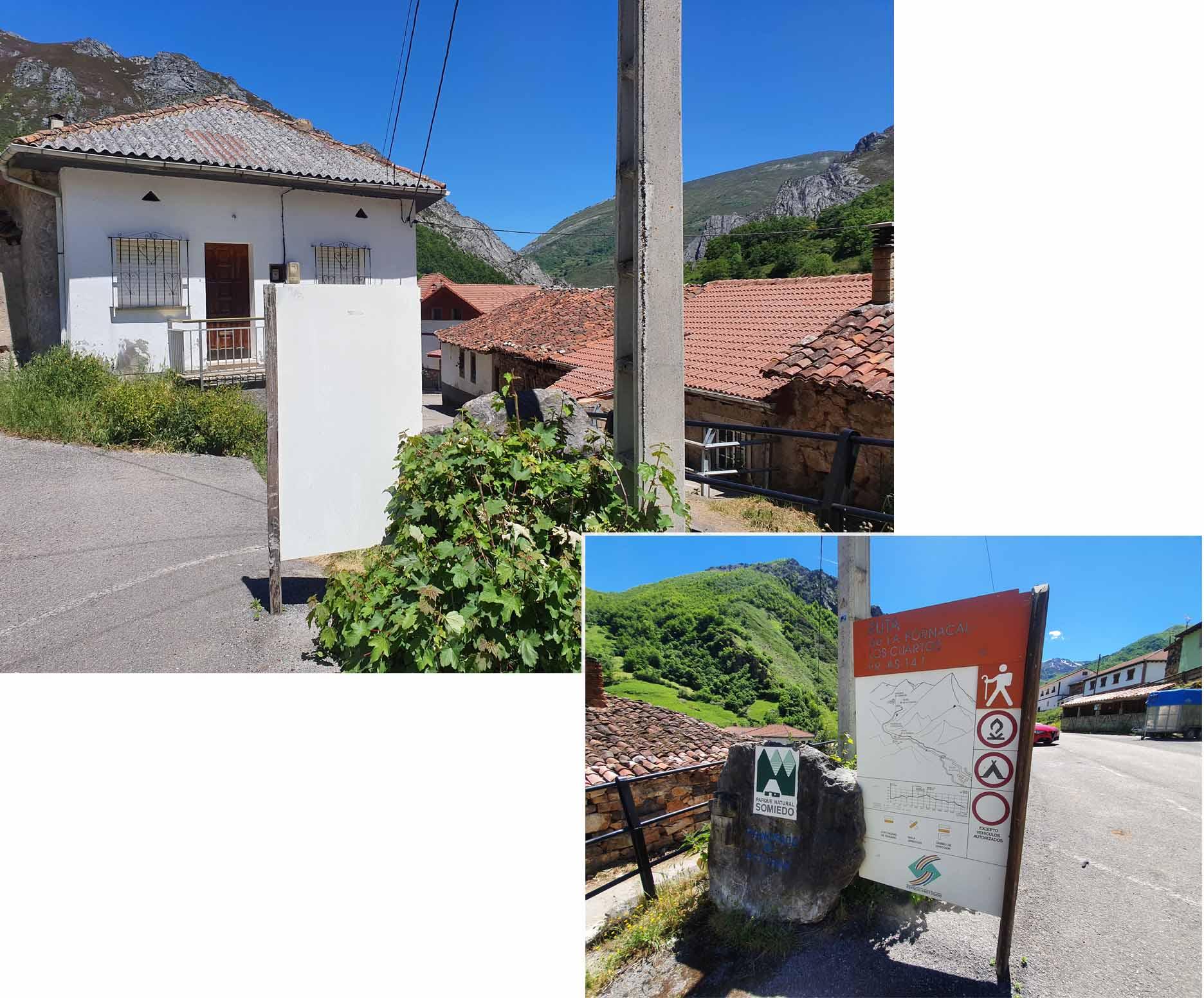 Public carpark at village Villar de Vildas