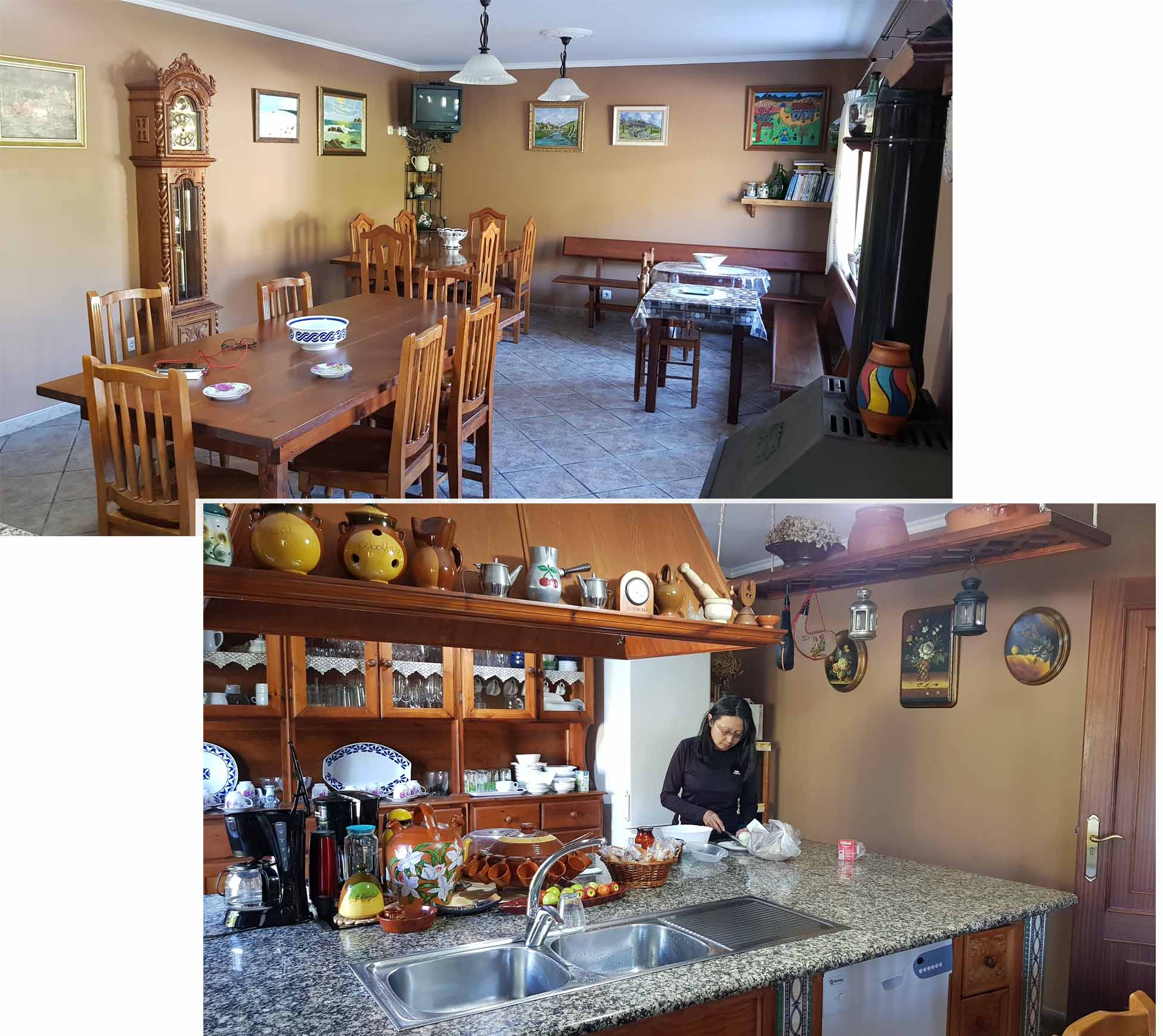 Shared kitchen and dining room