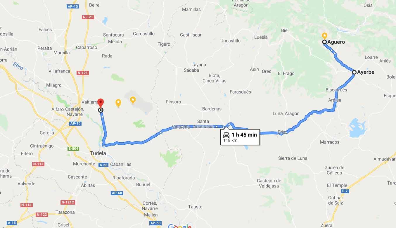 Route to Arguedas