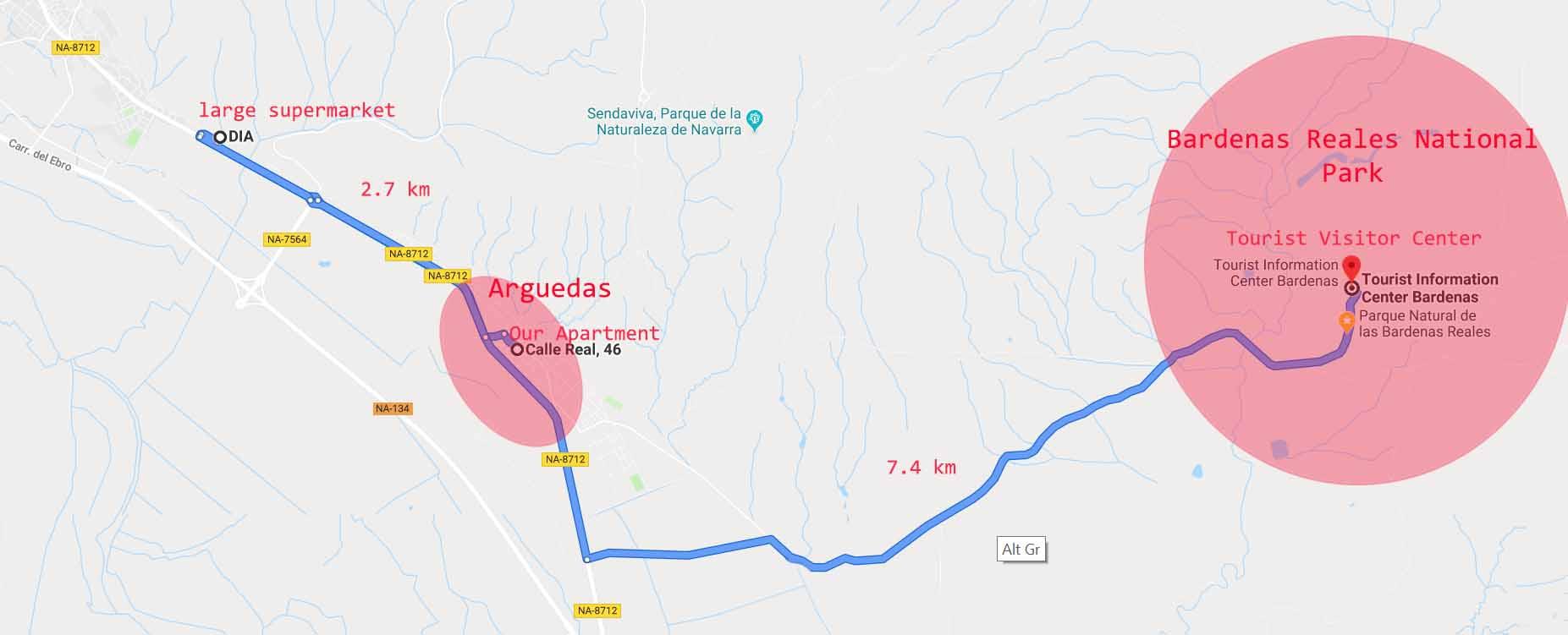 Arguedas and Bardenas Reales National Park