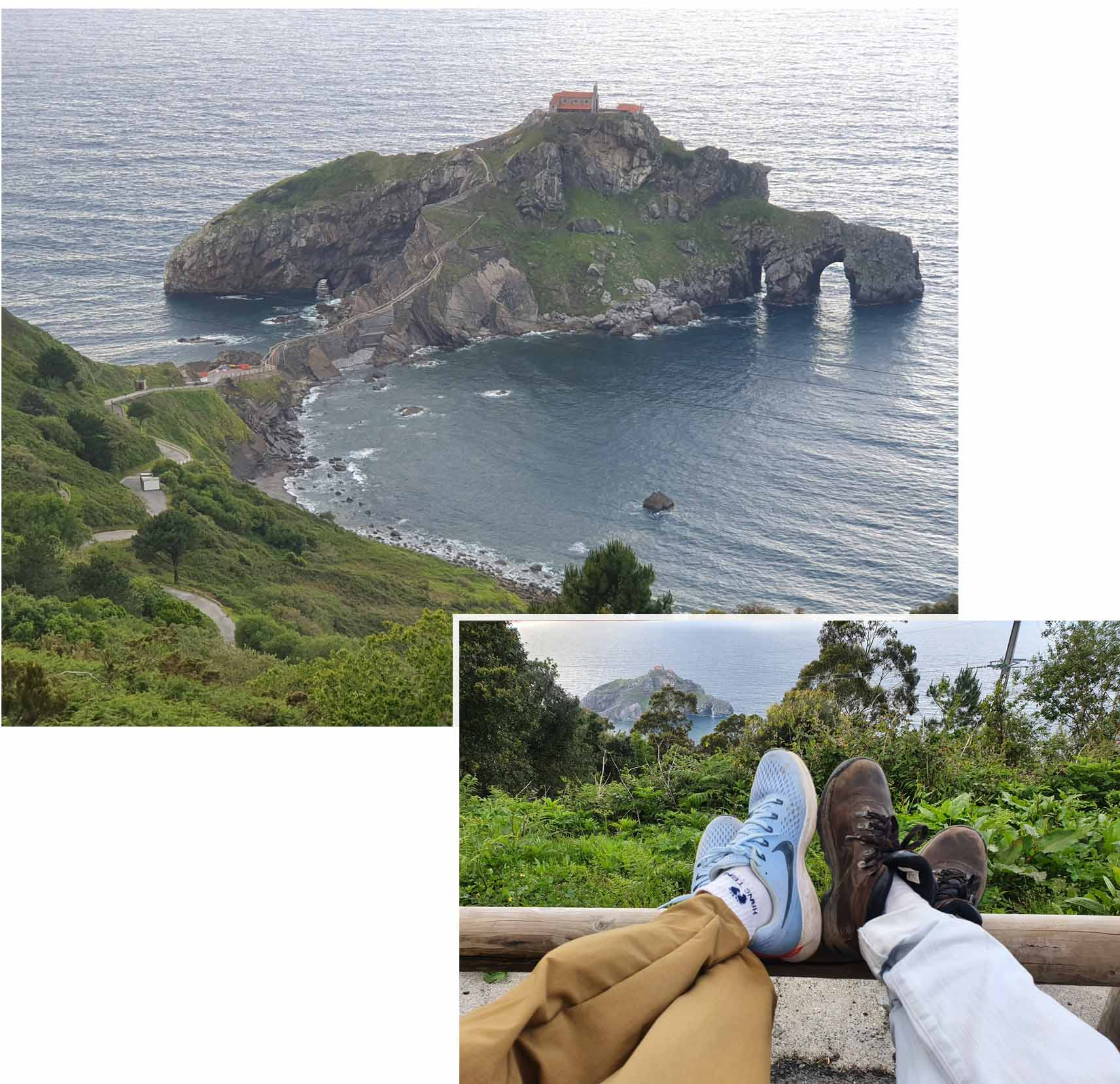 View Point of Gaztelugatxe along the longer route
