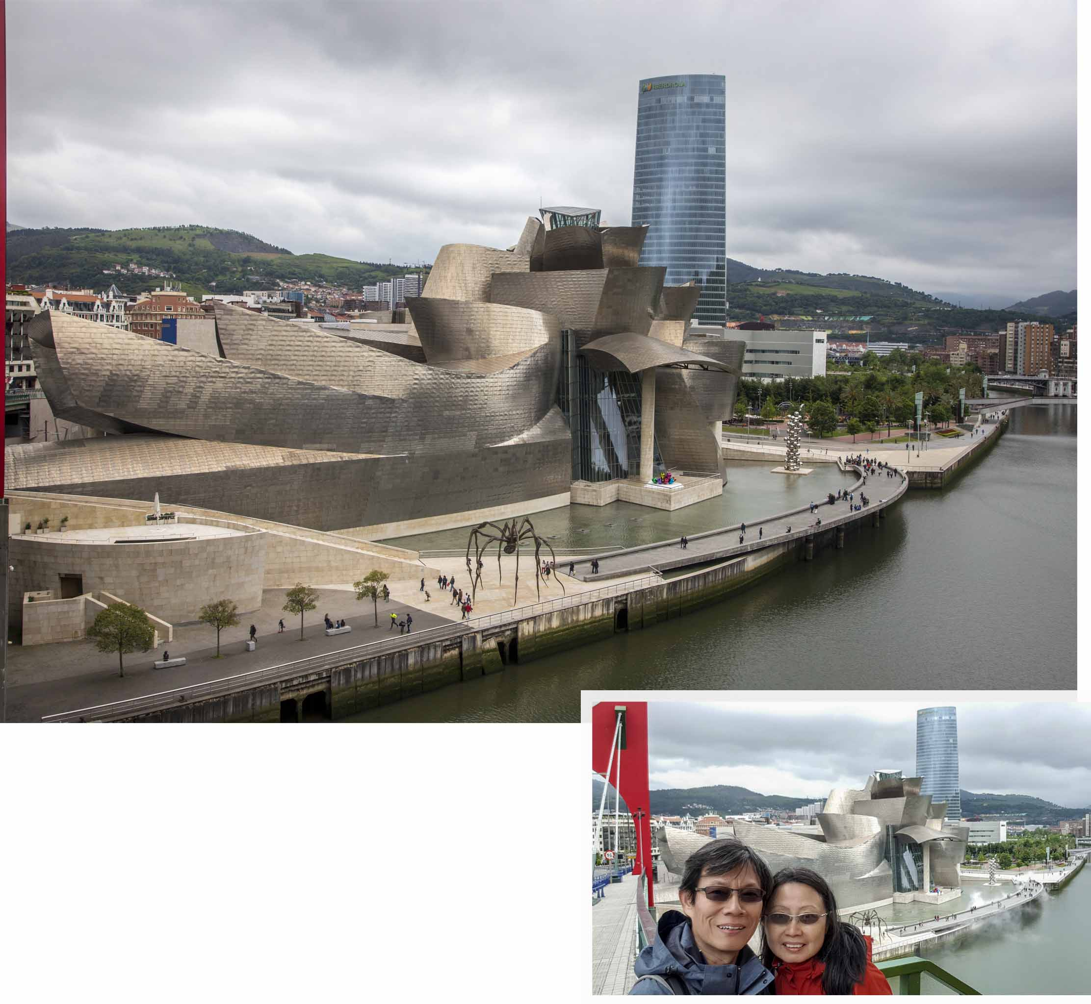 Bilbao Guggenheim Museum as seen from the bridge