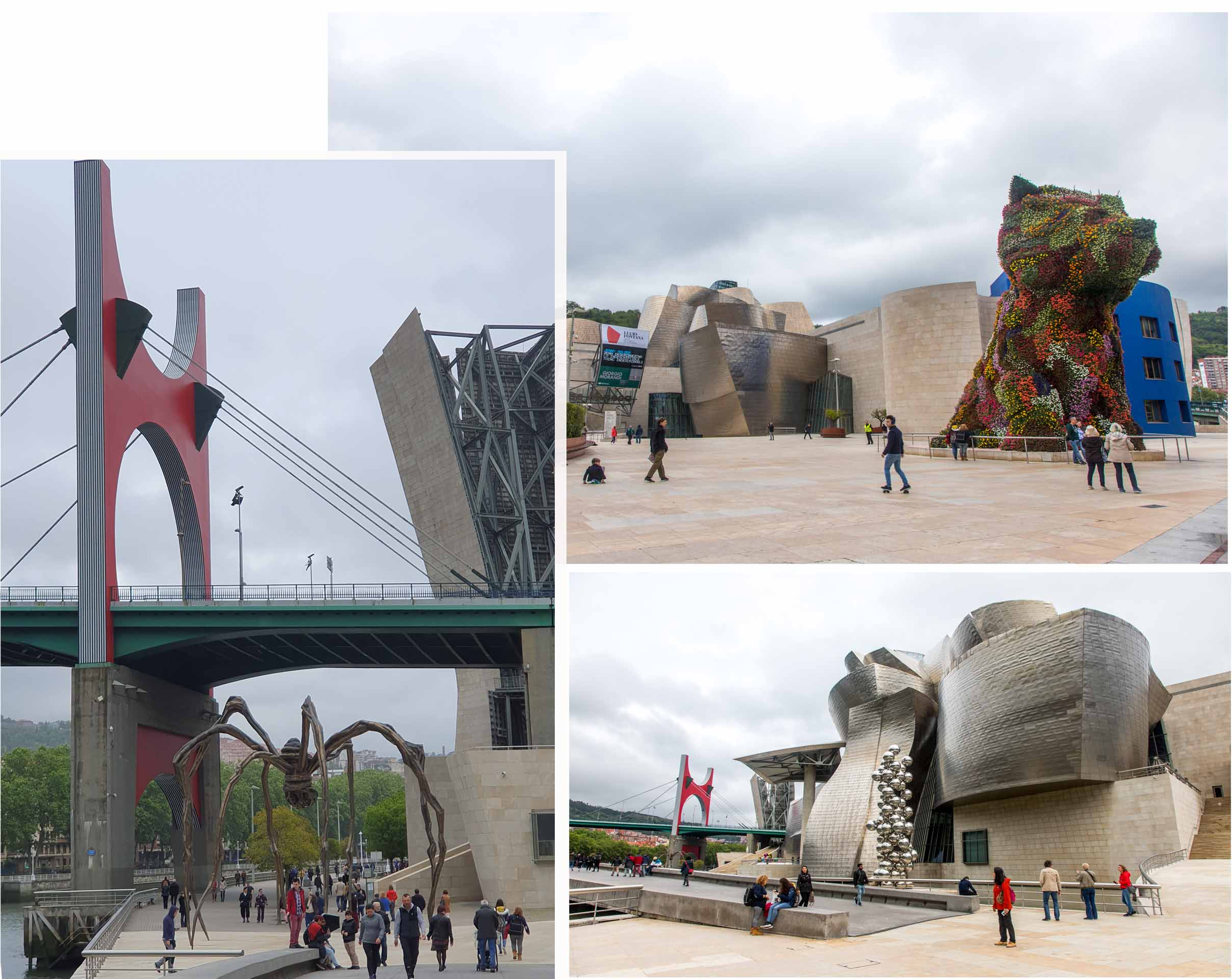 Outdoor exhibits at Guggenheim Bilbao