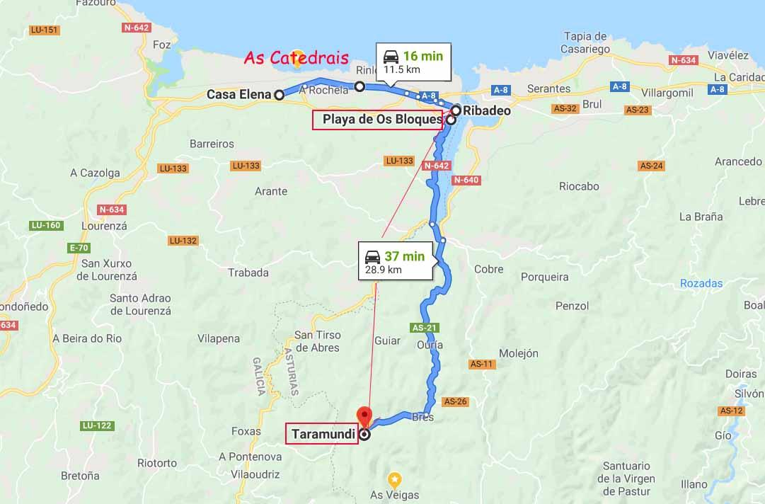 Route to Taramundi