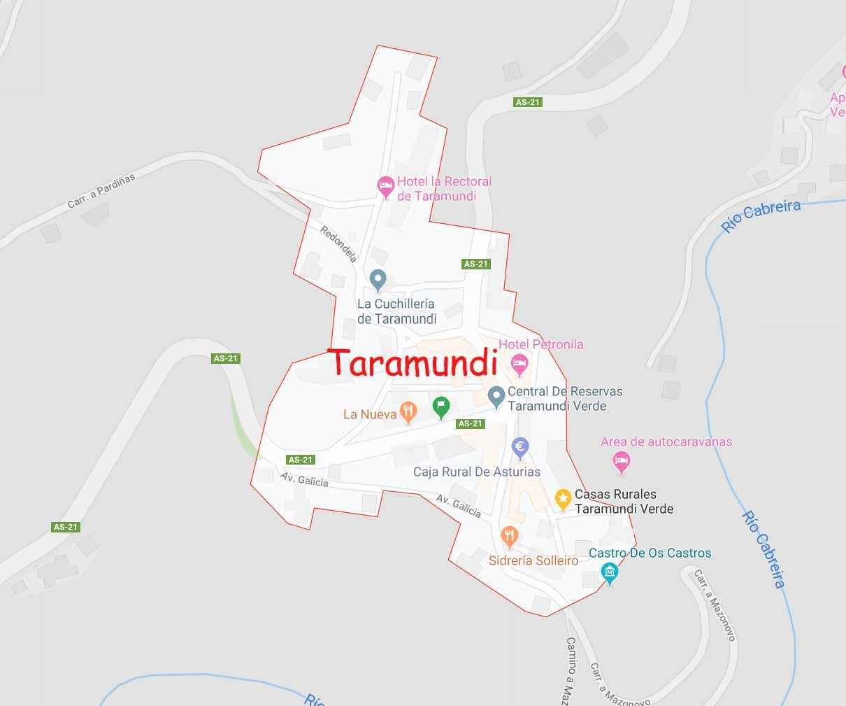 Map of Taramundi