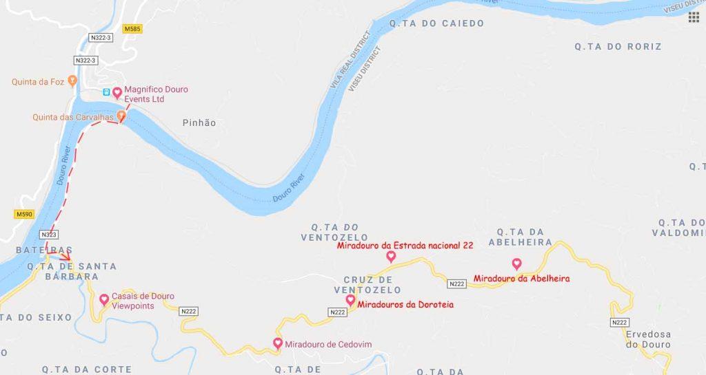 Miradouras at Pinhao