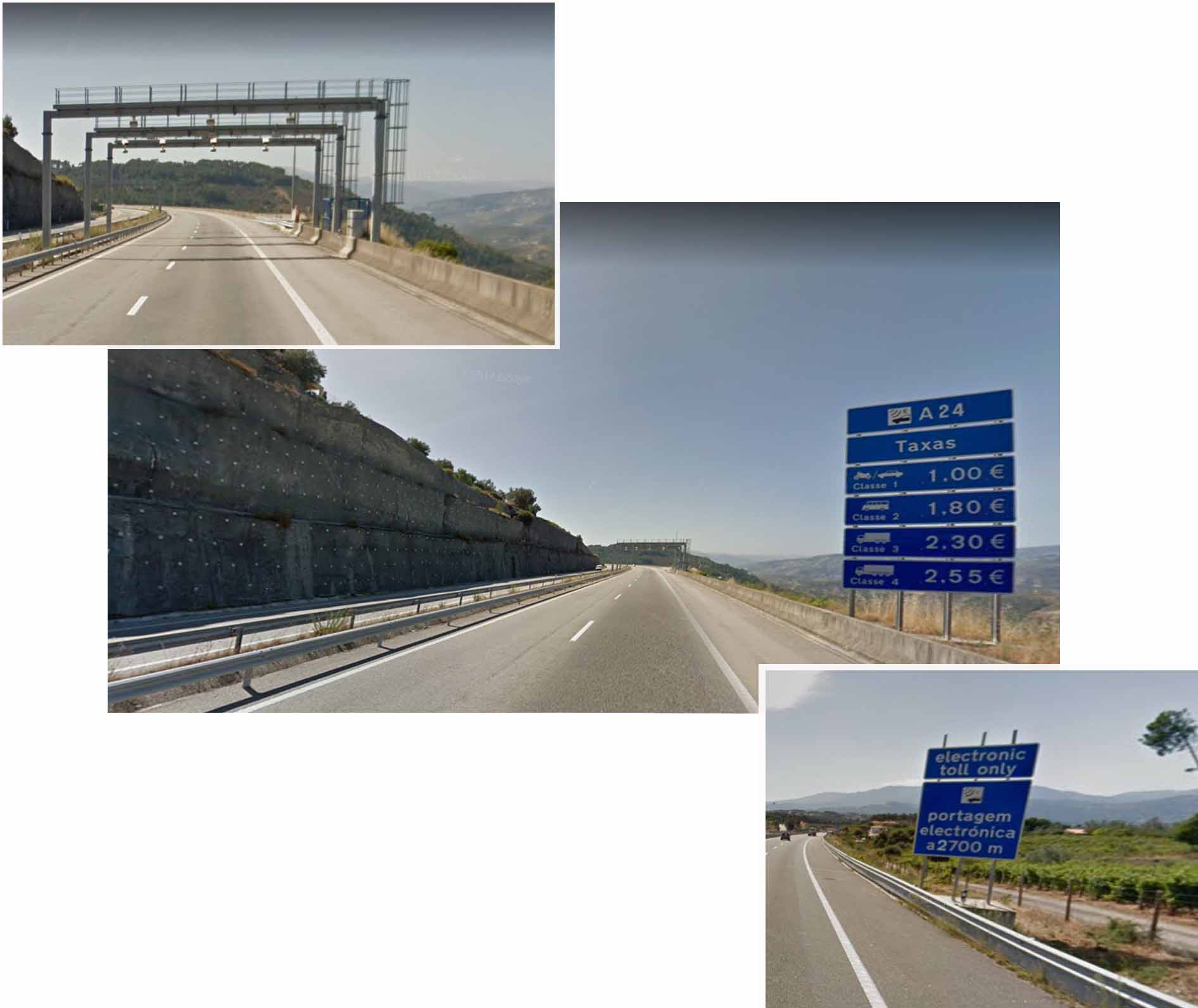 Electronic toll on Portugal highway