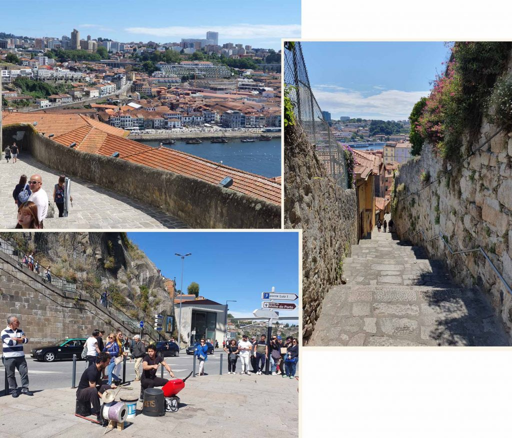 Getting from Porto Cathedral to the river front