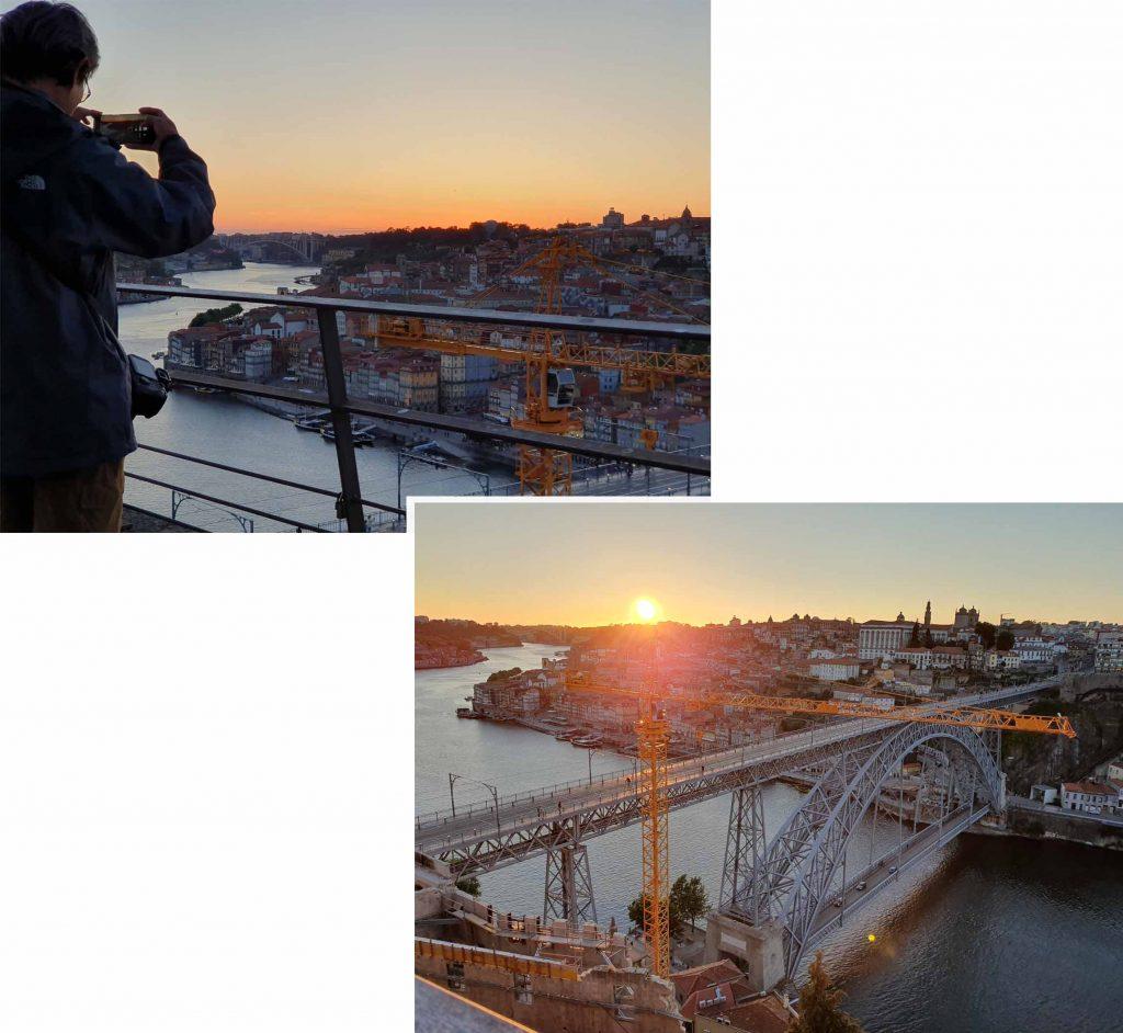 Sun set at Porto