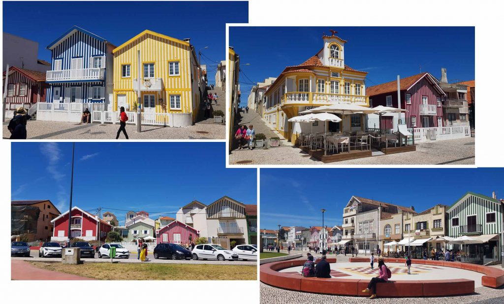 Delightful houses at Costa Nova beach