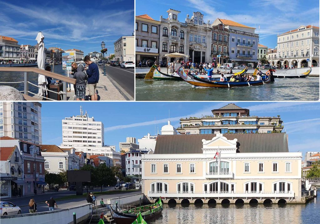 "Dock side of ""Grand Canal"" of Aveiro"