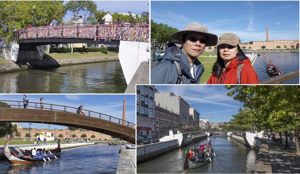 "Bridges along the ""Grand Canal"" of Aveiro"